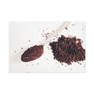 Spoon of Coffee Wall Art Canvas
