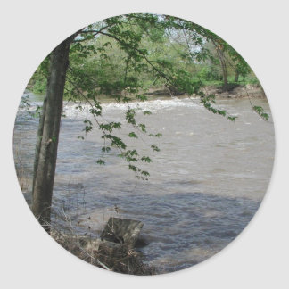 Spoon River Dam Classic Round Sticker