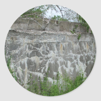 Spoon River Dam Ruins Classic Round Sticker