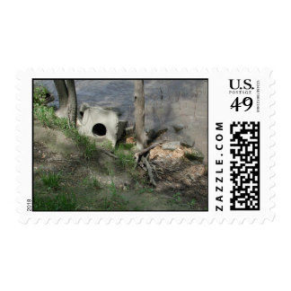 Spoon River Dam Ruins Postage