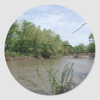 Spoon River Iron Bridge Classic Round Sticker