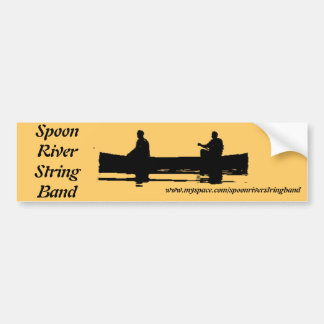 Spoon River String Band Canoe Ready Bumper Sticker