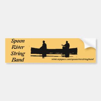 Spoon River String Band Canoe Ready Car Bumper Sticker