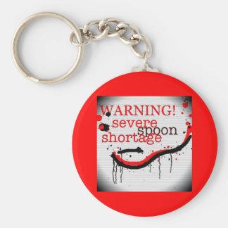 Spoon shortage warning keyring