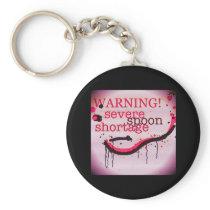 Spoon warning keychain