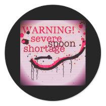 Spoon warning logo stickers