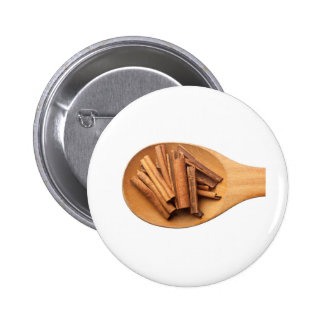 Spoon with cinnamon button