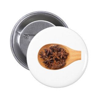 Spoon with star anise pinback button