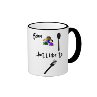 Spoon You? Fork You! Ringer Coffee Mug