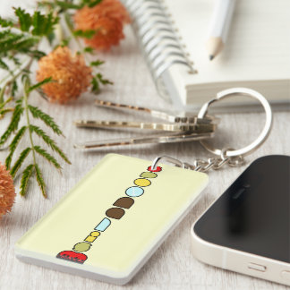 Spoonalism Single-Sided Rectangular Acrylic Keychain