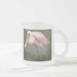 Spoonbill Frosted Glass Coffee Mug