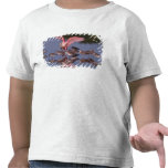 Spoonbill rosado con Willets en agua poco profunda Camiseta