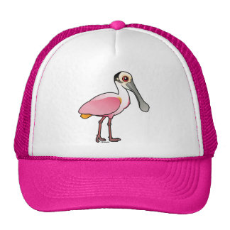 Spoonbill rosado lindo gorras de camionero