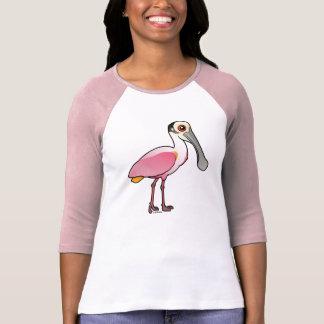 Spoonbill rosado lindo camisetas
