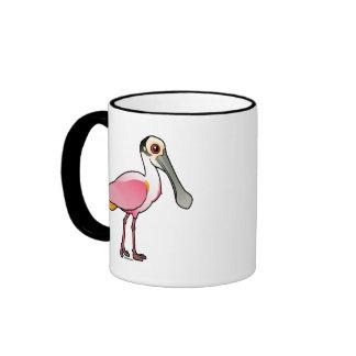 Spoonbill rosado lindo taza de café