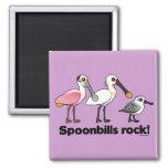Spoonbills Rock! Fridge Magnet
