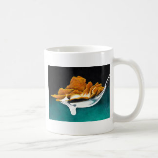 Spoonful of Cereal and Milk Painting Coffee Mug