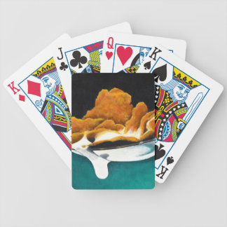 Spoonful of Cereal and Milk Painting Playing Cards