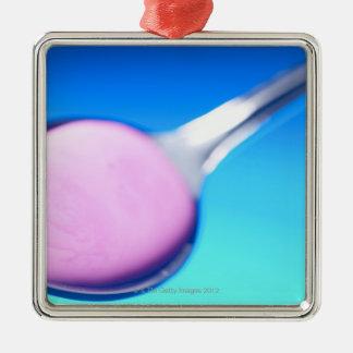 Spoonful of liquid metal ornament