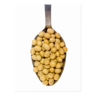 Spoonful of soy beans postcard