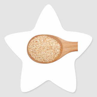 Spoonful of toasted sesame seeds star sticker