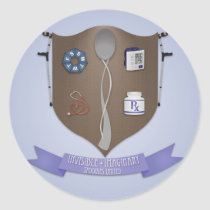 Spoonie Coat of Arms Classic Round Sticker