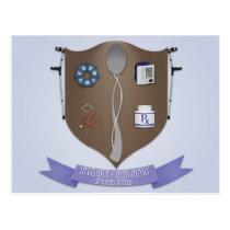 Spoonie Coat of Arms Postcard