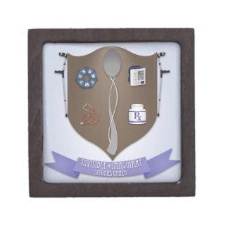 Spoonie Coat of Arms Premium Trinket Boxes