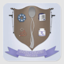 Spoonie Coat of Arms Square Sticker