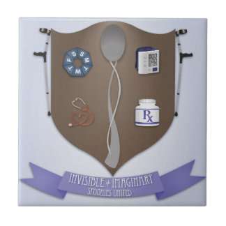 Spoonie Coat of Arms Small Square Tile