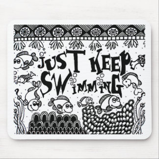 Spoonie-Just Keep Swimming-Chronic Illness Mouse Pad