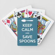 Spoonie-Keep Calm and Save Spoons-Chronic Illness Bicycle Playing Cards