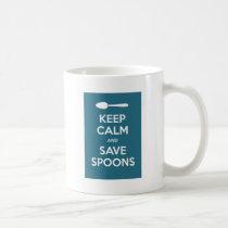 Spoonie-Keep Calm and Save Spoons-Chronic Illness Coffee Mug