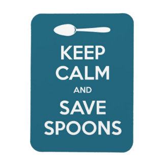 Spoonie-Keep Calm and Save Spoons magnet