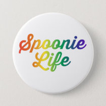 Spoonie Life Button (Rainbow)