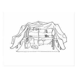 Spoonie-Pillow/Blanket Fort-Chronic Illness Postcard