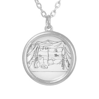 Spoonie-Pillow/Blanket Fort-Chronic Illness Silver Plated Necklace
