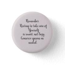 Spoonie Pinback Button