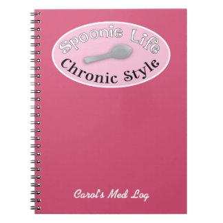 Spoonie Style - Pink Note Book