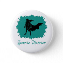 Spoonie Warrior (clear) Button