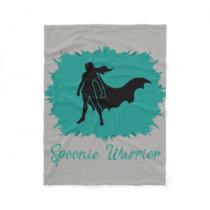 Spoonie Warrior (clear) Fleece Blanket