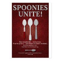 SPOONIES UNITE! (Red) Postcard