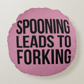 Spooning leads to Forking throw cushion