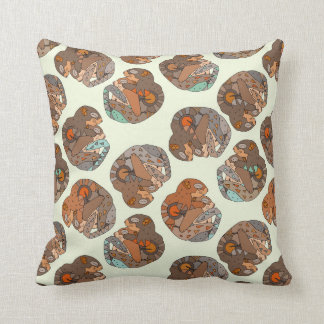 spooning squirrels throw pillow