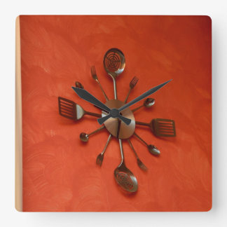 Spoons and forks clock