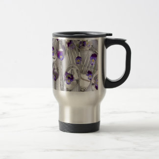 spoons and forks with violets 15 oz stainless steel travel mug