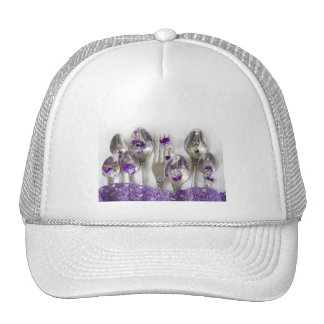 spoons and forks with violets trucker hat