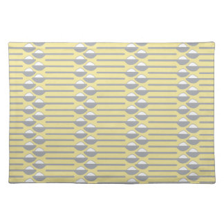 Spoons of Sugar Gray and Yellow Cloth Place Mat