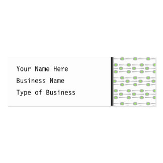 Spoons Pattern, with Green Splat. Business Card