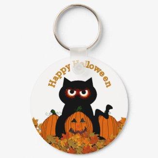 Spoooky Kitty Keychain keychain